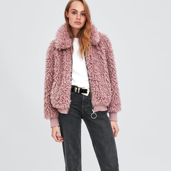 7707f672 Zara Jackets & Coats | Faux Shearling Bomber | Poshmark